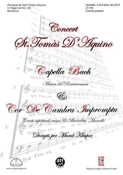 6 de febrer: Concert de Sant Tomàs
