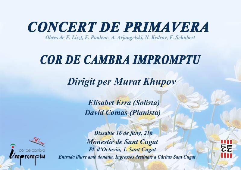 Concert al Monestir de Sant Cugat – juny 2018