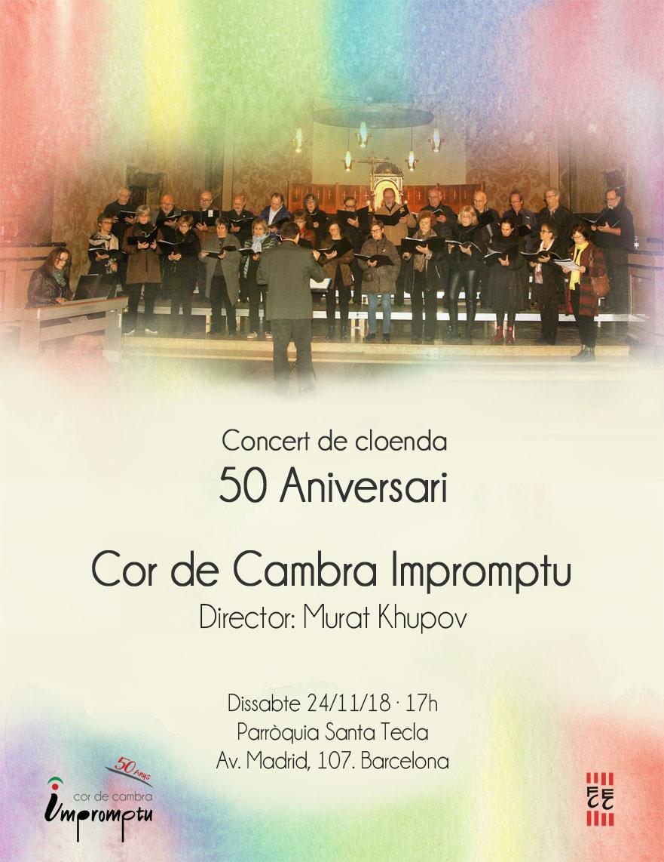 24 de novembre 2018: Concert de Cloenda del 50 aniversari